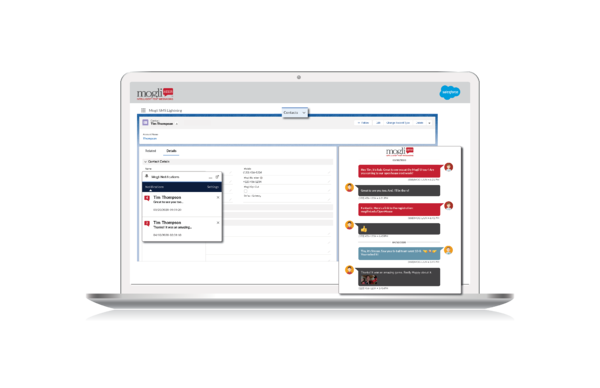1-1 conversations for higher ed with mogli sms or whatsapp directly in salesforce
