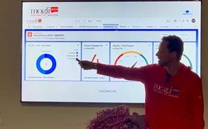 Mogli presenting MogliPay text-to-pay at Dreamforce 2019