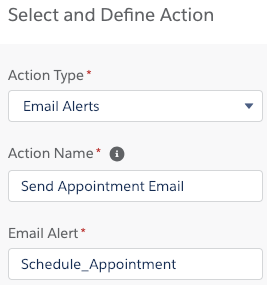 Populate immediate actions to trigger email