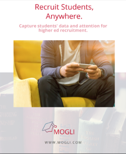 student on couch with phone: recruit students anywhere with text messaging for data collection with mogli on salesforce