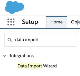 Data Import Wizard view in Salesforce