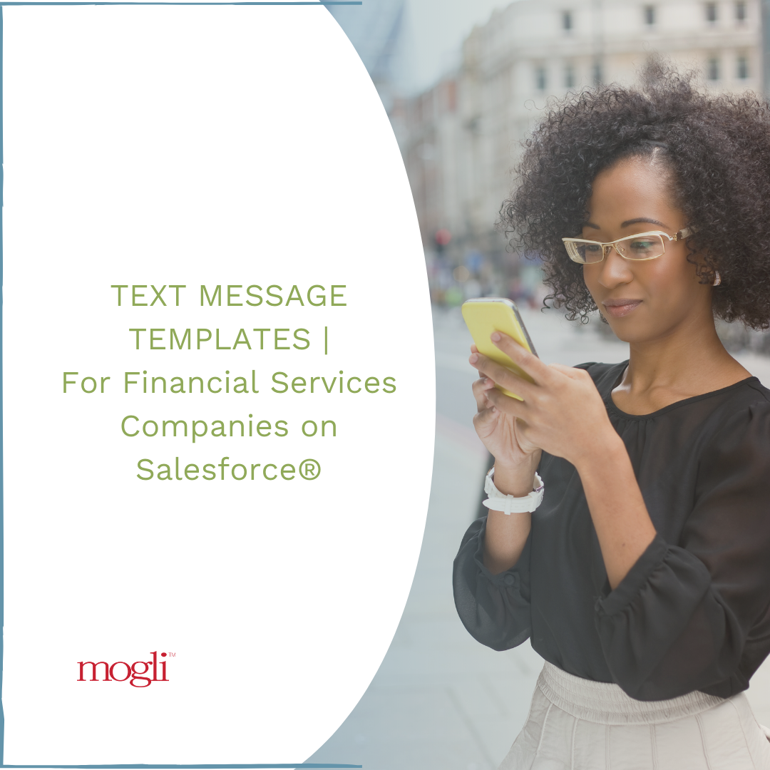 Blog Featured Photo| Text Message Templates | For Financial Services on Salesforce